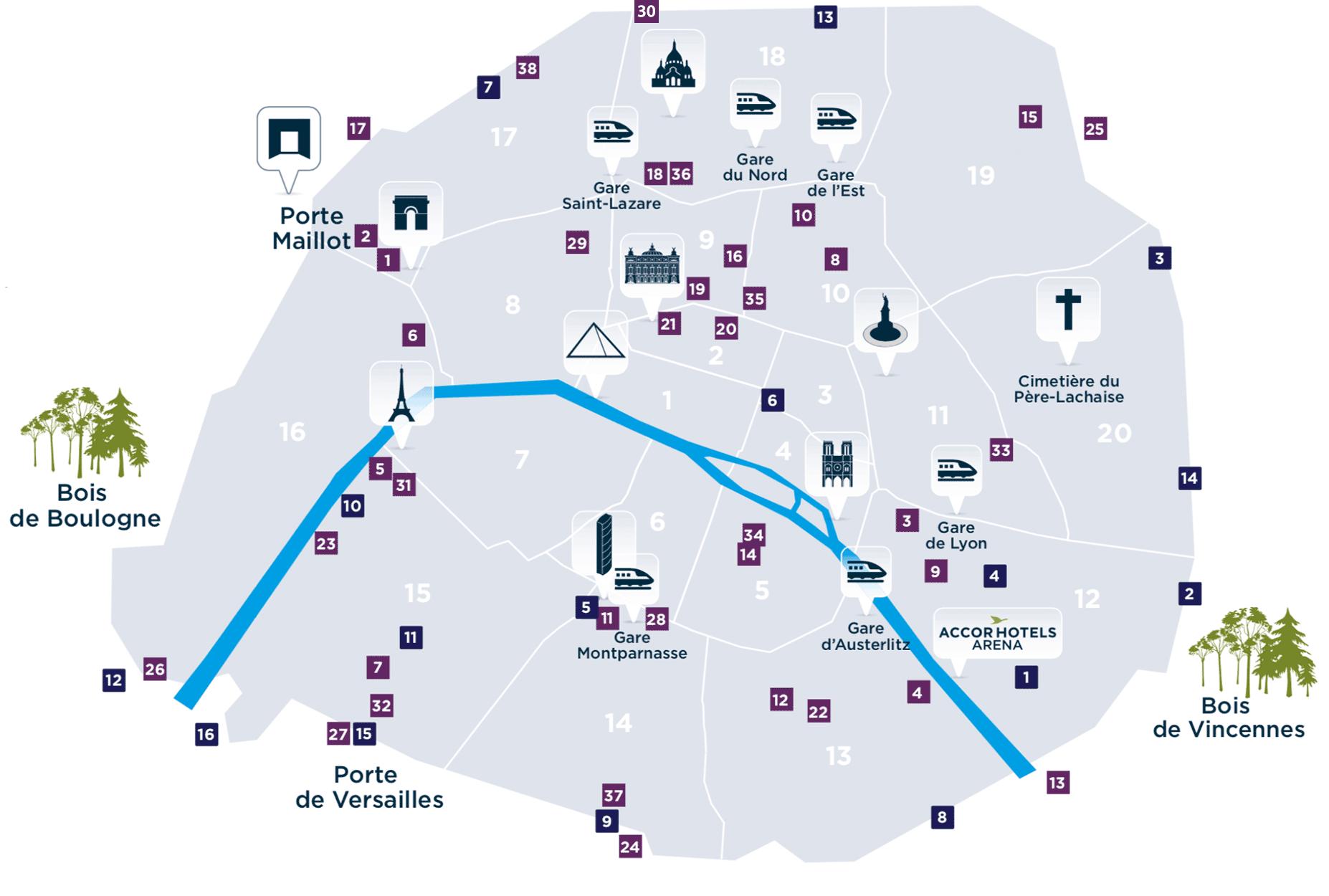 Destination paris - Paris gare de lyon porte de versailles ...